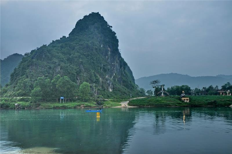 Xuan Son Ferry in Quang Binh Province, Vietnam